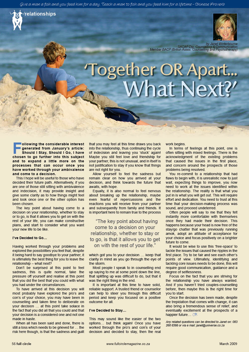 Together or Apart Psychologist Cape Town