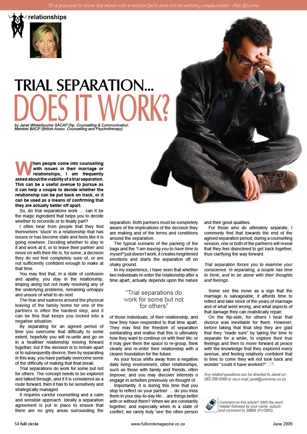 Trial Seperation Psychologist Cape Town