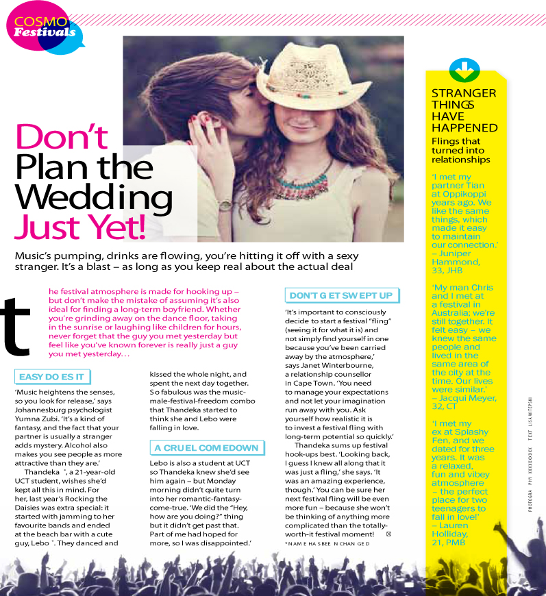 Don't Plan the Wedding Just Yet! Psychologist Cape Town