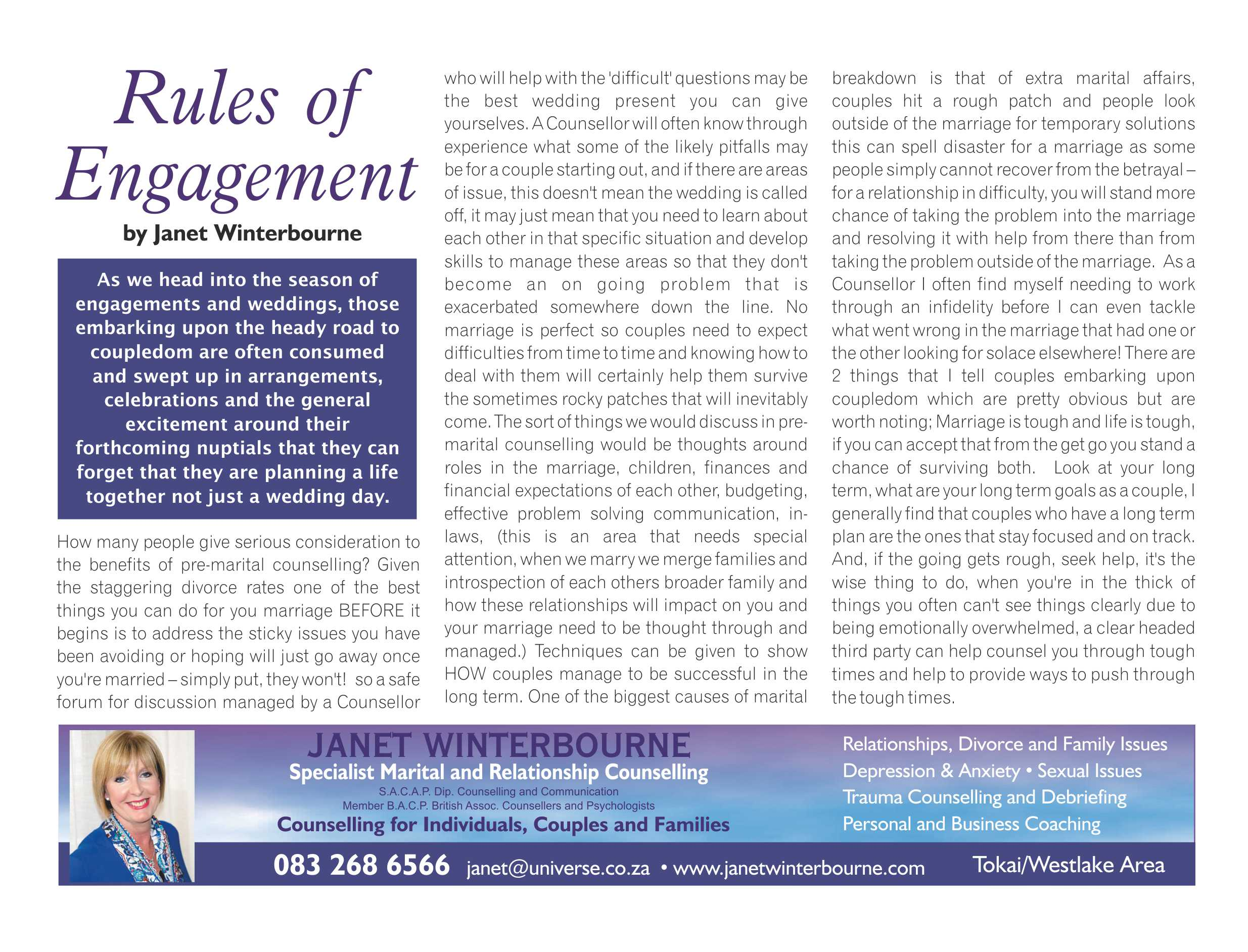 rule of engagement | Psychologist Cape Town