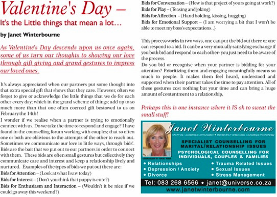 Valentines Day Psychologist Cape Town