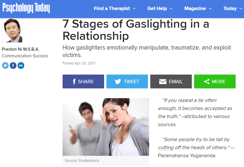 7 Stages of Gaslighting in a Relationship  | Psychologist Cape Town